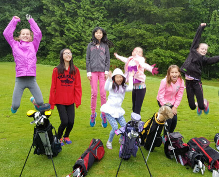 Girls club golf lesson program